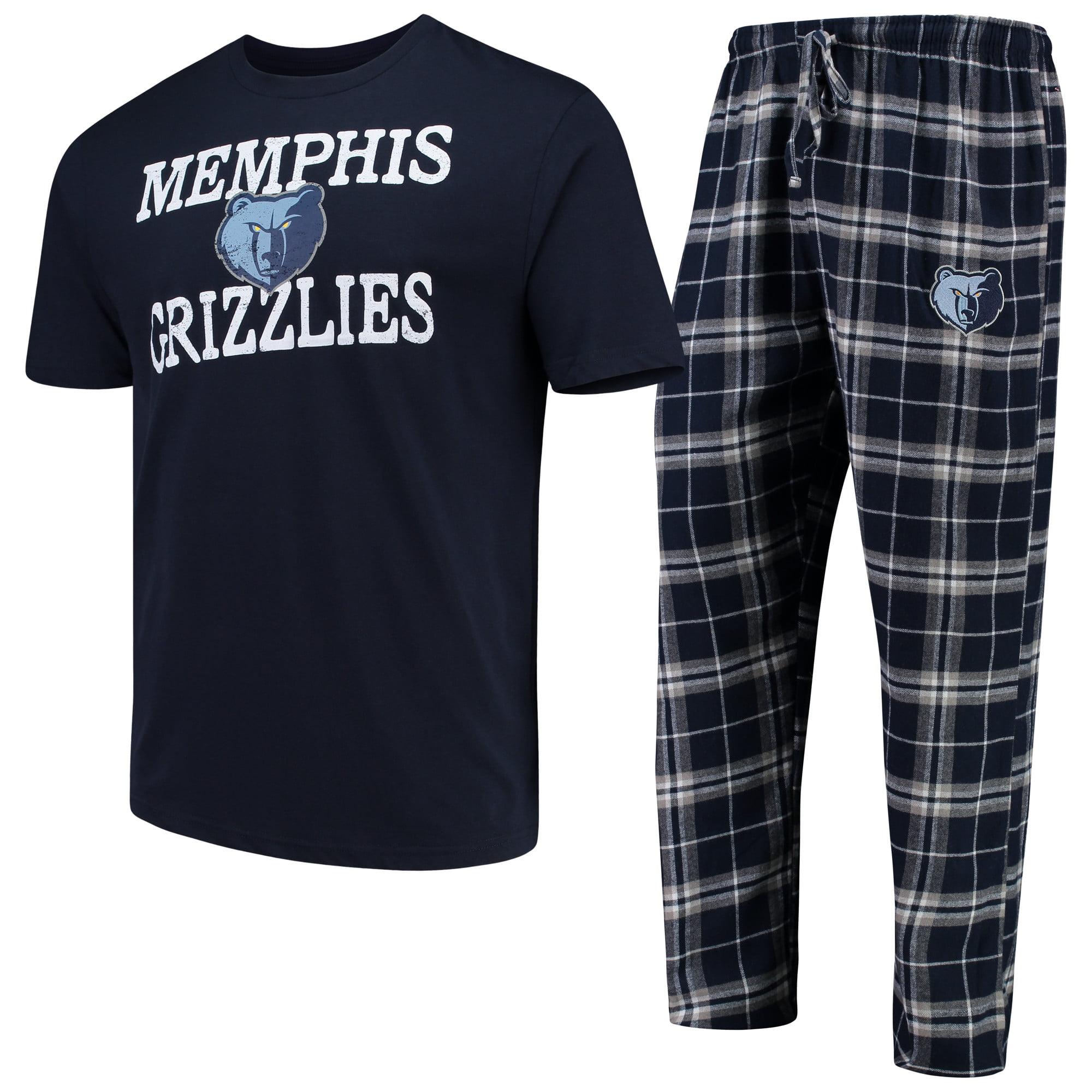 Memphis Grizzlies Concepts Sport Duo T-Shirt & Pants Sleep Set - Navy/Gray