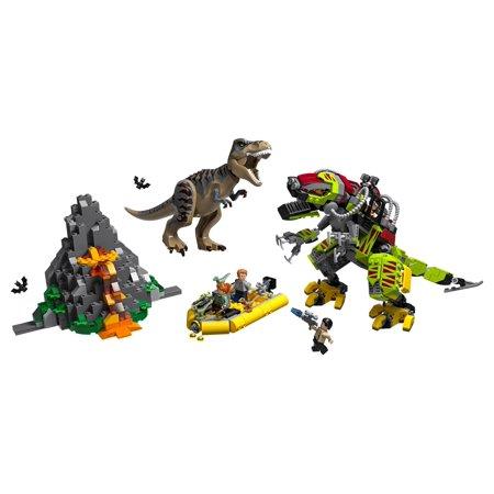 LEGO Jurassic World T. rex vs Dino-Mech Battle 75938 Building Kit (716 Pieces)