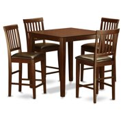 East West Furniture East West 5 Piece Slat Back Dining Table Set