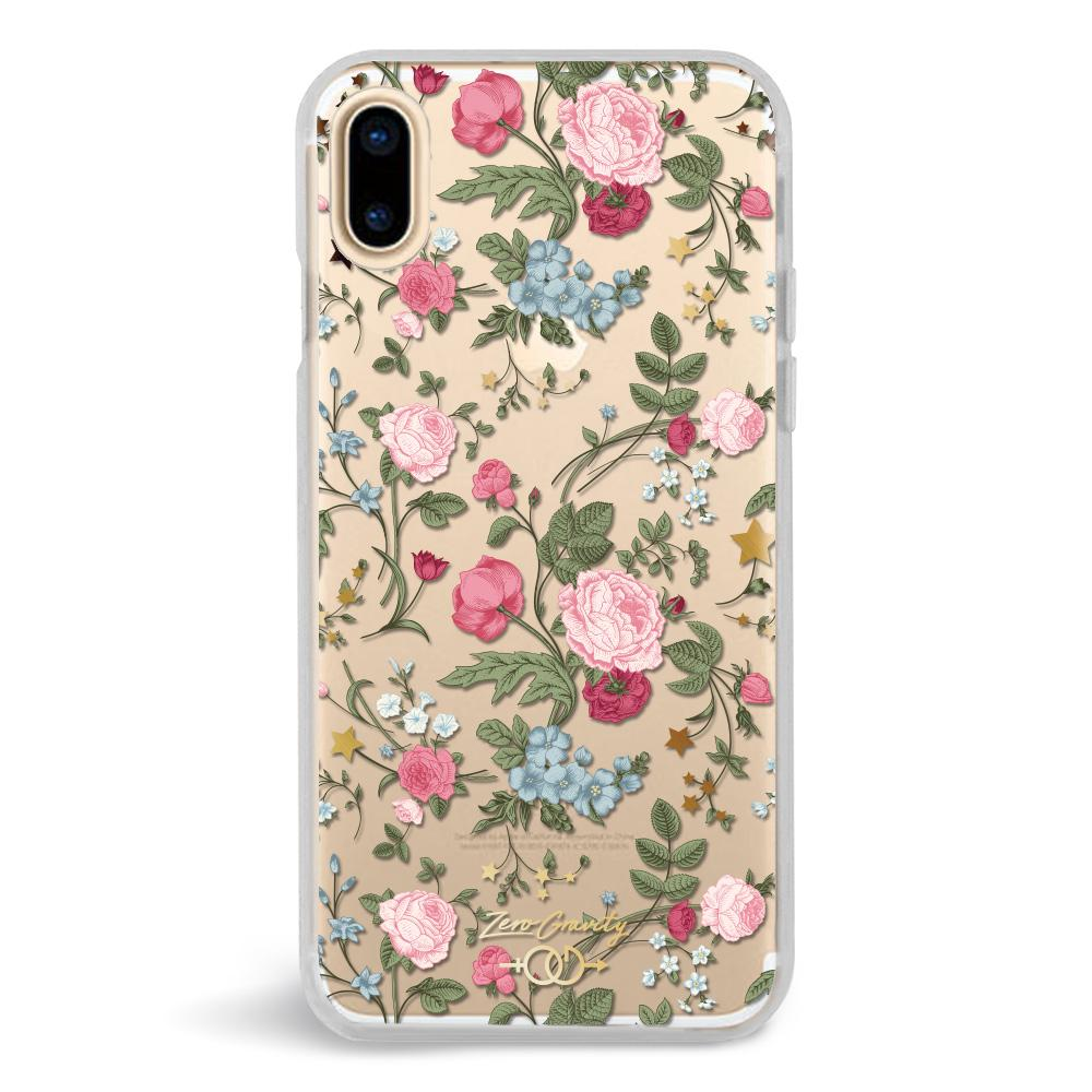 Zero Gravity Apple iPhone X Darling Phone Case - Clear Botanical Design - 360° Protection, Drop Test Approved