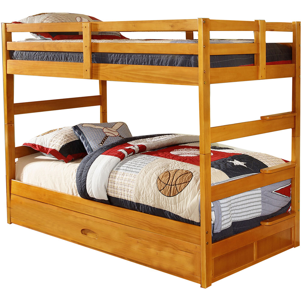Cambridge Grant Twin-Over-Twin Bunk Bed with Slide-Out Trundle