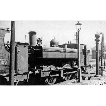 LAMINATED POSTER Ex-GWR Dean 0-6-0PT at Birkenhead Locomotive Depot. Built 4/1902 as a '2021' class saddle-tank, conv Poster Print 24 x 36