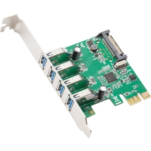 4PORT USB 3.0 PCI-EXPRESS CARD WITH FULL & LOW PROFILE BRACKETS