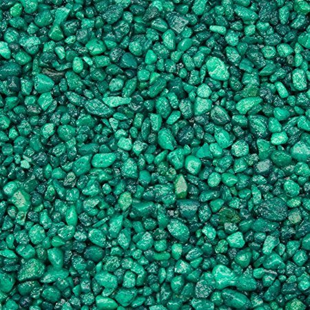Special Green Aquarium Gravel for Freshwater Aquariums, 5-Pound Bag, Will not affect PH By Spectrastone
