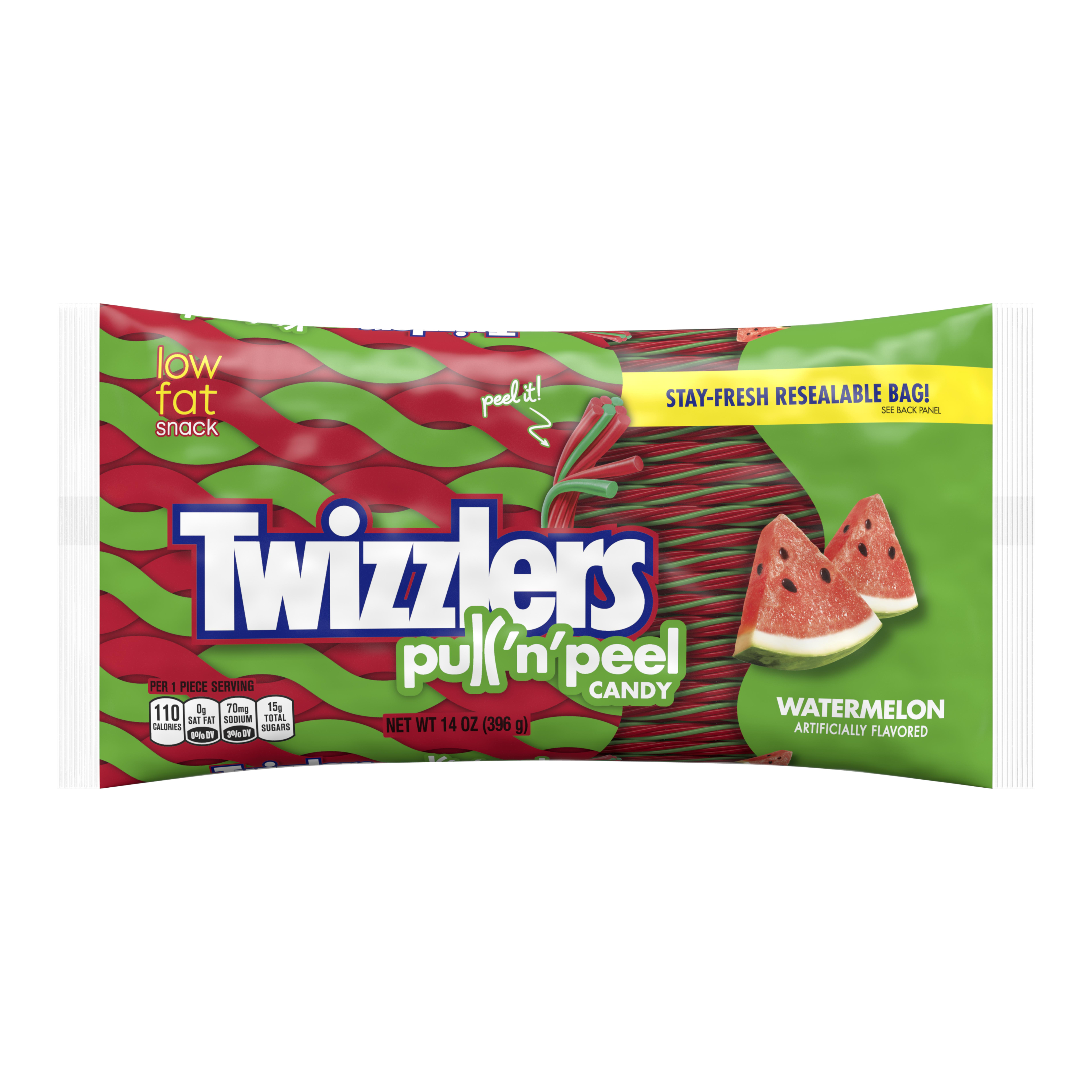 (3 Pack) Twizzlers, Watermelon Pull 'n' Peel, 14 Oz