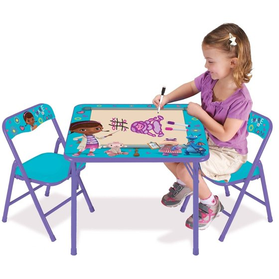 Disney The Doc Is In 4 Piece Doc Mcstuffins Toddler: Disney Doc McStuffins On The Go Erasable Activity Table