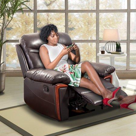 Merax Heating Vibrating PU Leather Massage Recliner Chair