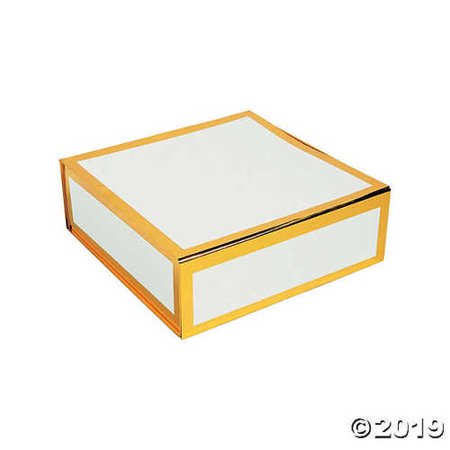 White Square Gift Box with Gold Foil Trim](Gold Gift Box)