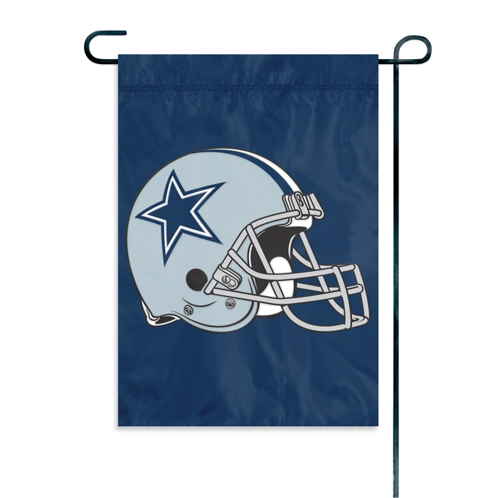 DALLAS COWBOYS OFFICIAL LOGO GARDEN FLAG + STAND