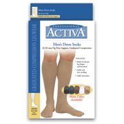 Activa H3563 Support Compression Dress Socks 20-30mmHg Lg, Blk, 1 pr each