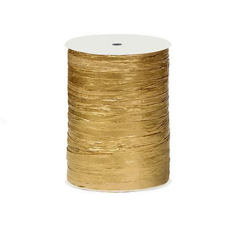 Metallic Paper Gold gift packaging Raffia Ribbon