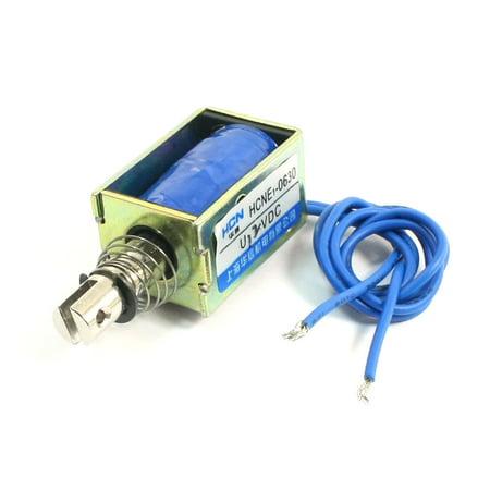 5mm 0.4N Spring Load Pull Actuator Linear Electromagnet Solenoid DC 12V