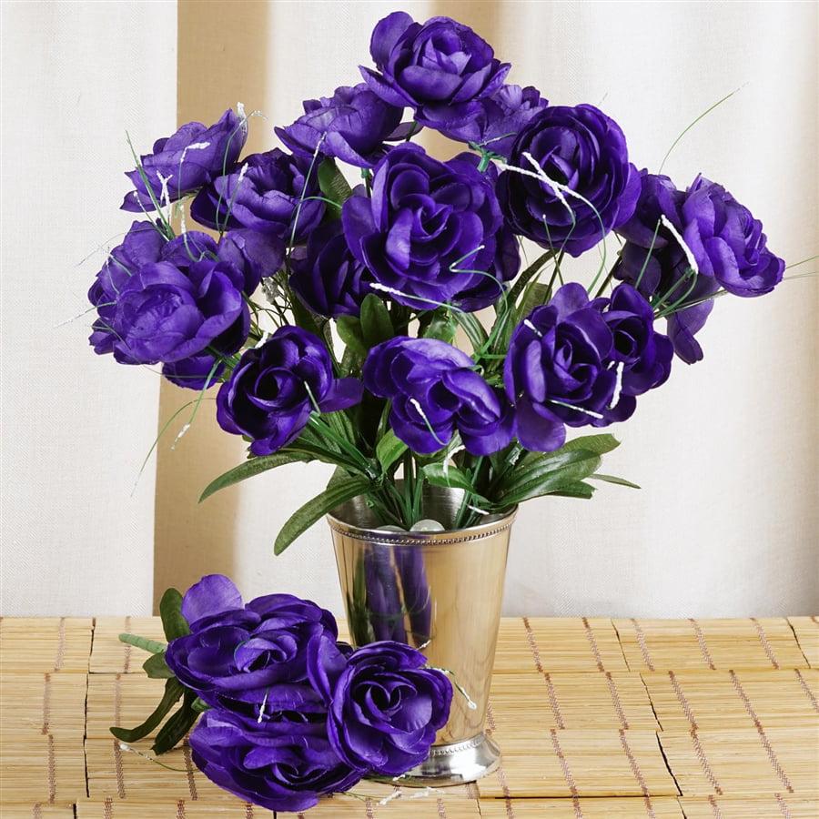 Efavormart 84 pcs Artificial CAMELLIA Flowers for DIY Wedding Bouquets Centerpieces Arrangements Party Home Decorations - 12 bushes