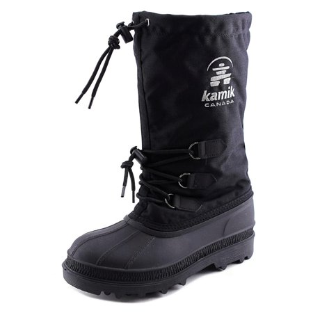 Kamik Snow (Kamik Canuck Men  Round Toe Synthetic Black Snow Boot )