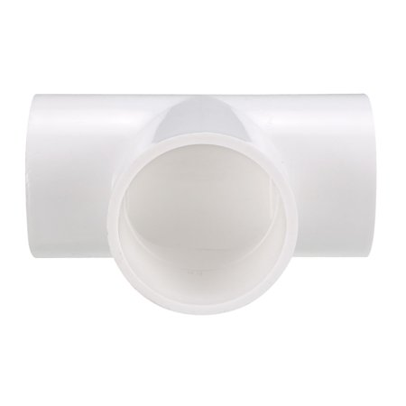 50mm Slip Tee PVC Pipe Fitting T-Shaped Coupling Connector - image 2 of 4