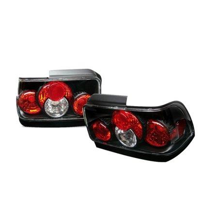 Spyder Automotive 5007407 Tail Light Assembly  Euro Clear Lens; Black Housing; Uses OE Bulb; Set of 2 - image 1 de 1