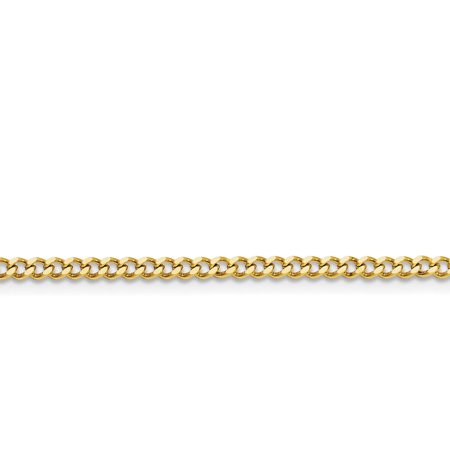 Stainless Steel Ip Gold-plated 3.0mm 22in Curb Chain Necklace Pendant Charm Fashion Jewelry For Women Gifts For Her - image 7 de 7