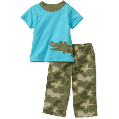 Child of Mine by Cartes Newborn Boys' 2 Piece Graphic Tee and Pant Set