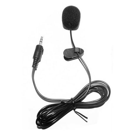 Wired Lavalier Microphone (External Clip-on Lapel Lavalier Microphone 3.5mm Jack for Phone Handsfree Wired Condenser Mic for Teaching Speeching Black )