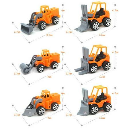 Pull Back Car Mini Car Forklift Toy Car Model Excavator - image 4 de 6