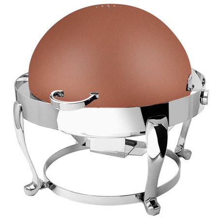 Eastern Tabletop 3608FSCP Freedom 8 Qt. Round Copper Coated Stainless Steel Roll Top Chafer - image 1 de 1