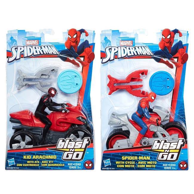 Hasbro HSBB9705 Spider-Man Blast N Go - Set of 4