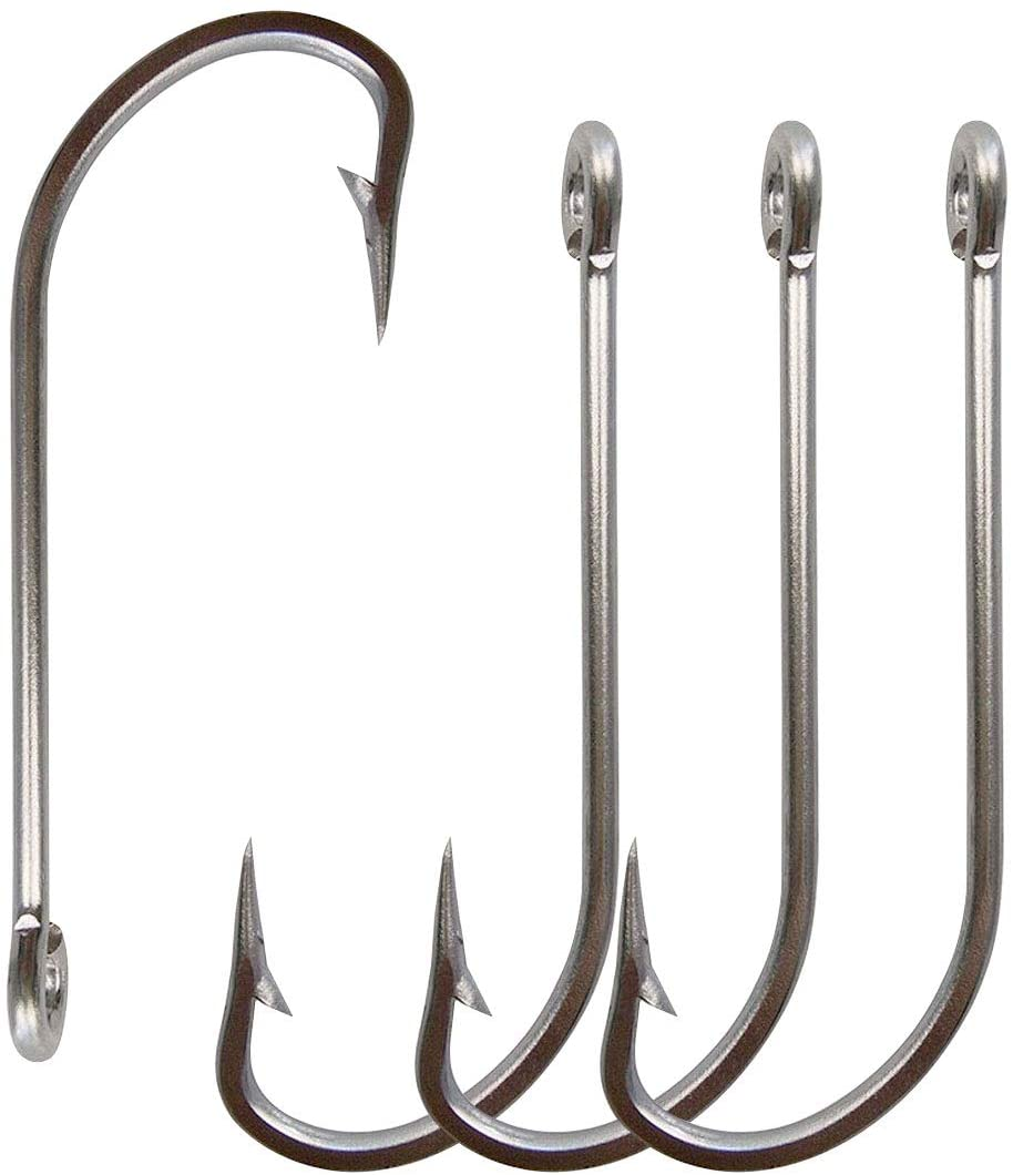 Stainless Steel Saltwater Fishing Hooks-50pcs//lot 34007 Extra Strong
