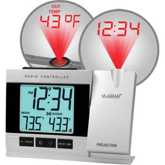La Crosse Technology(R) WT-5220U-IT-CBP Atomic Projection Alarm Clock with Indoor & Outdoor Temperature - image 1 de 1