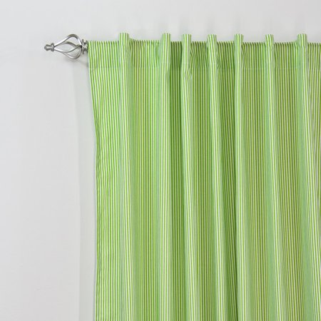 Brite Ideas Living Desoto Chartreuse Back Tab Curtain Panel