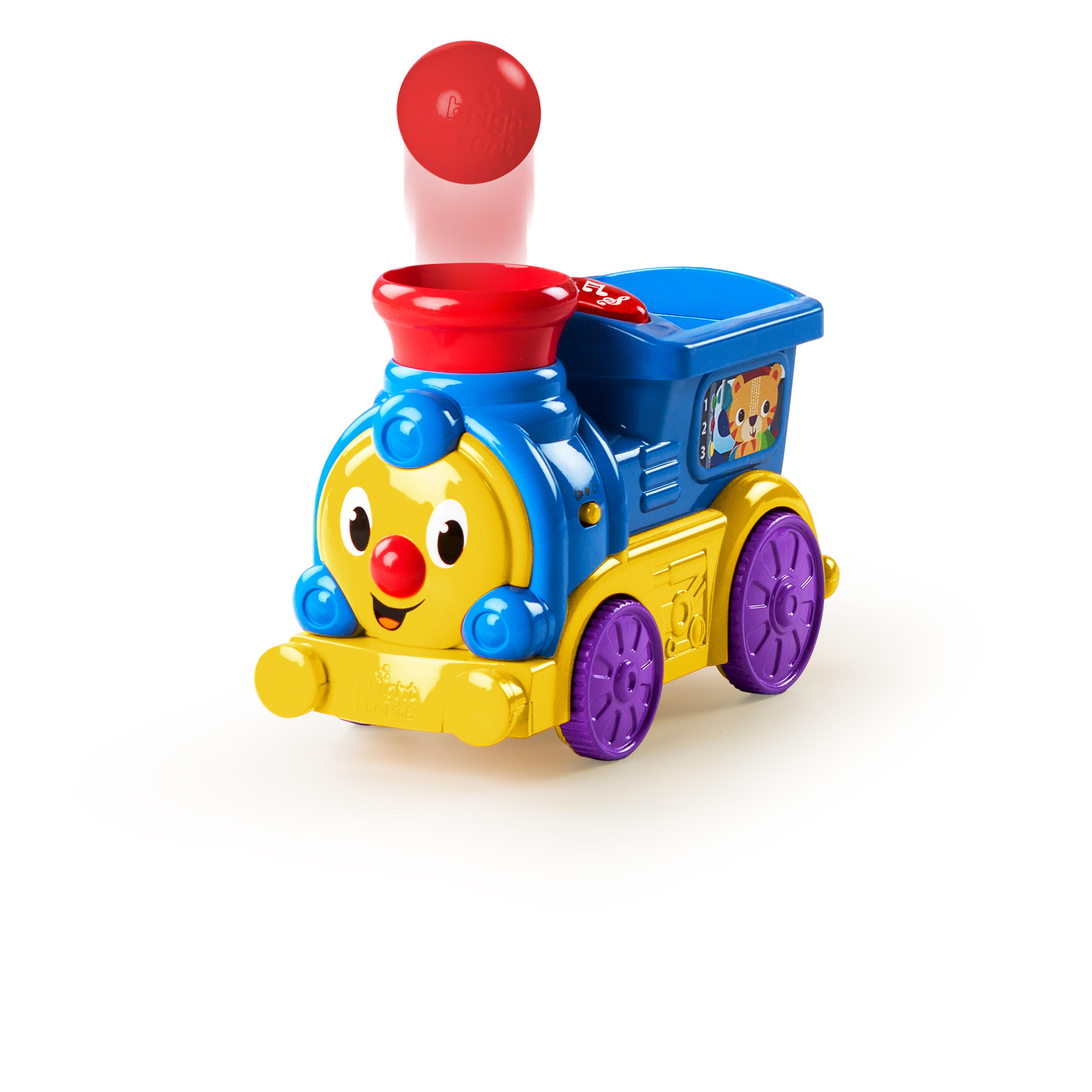 Bright Starts Roll & Pop Train Toy Ball Popper Musical Activity Toy
