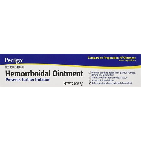 Hemorrhoidal Pain Relief Ointment Generic For Preparation H 2 oz (57g) Per Tube Pack of 3 Tubes Total 6 oz Hemorrhoidal Ointment Tube