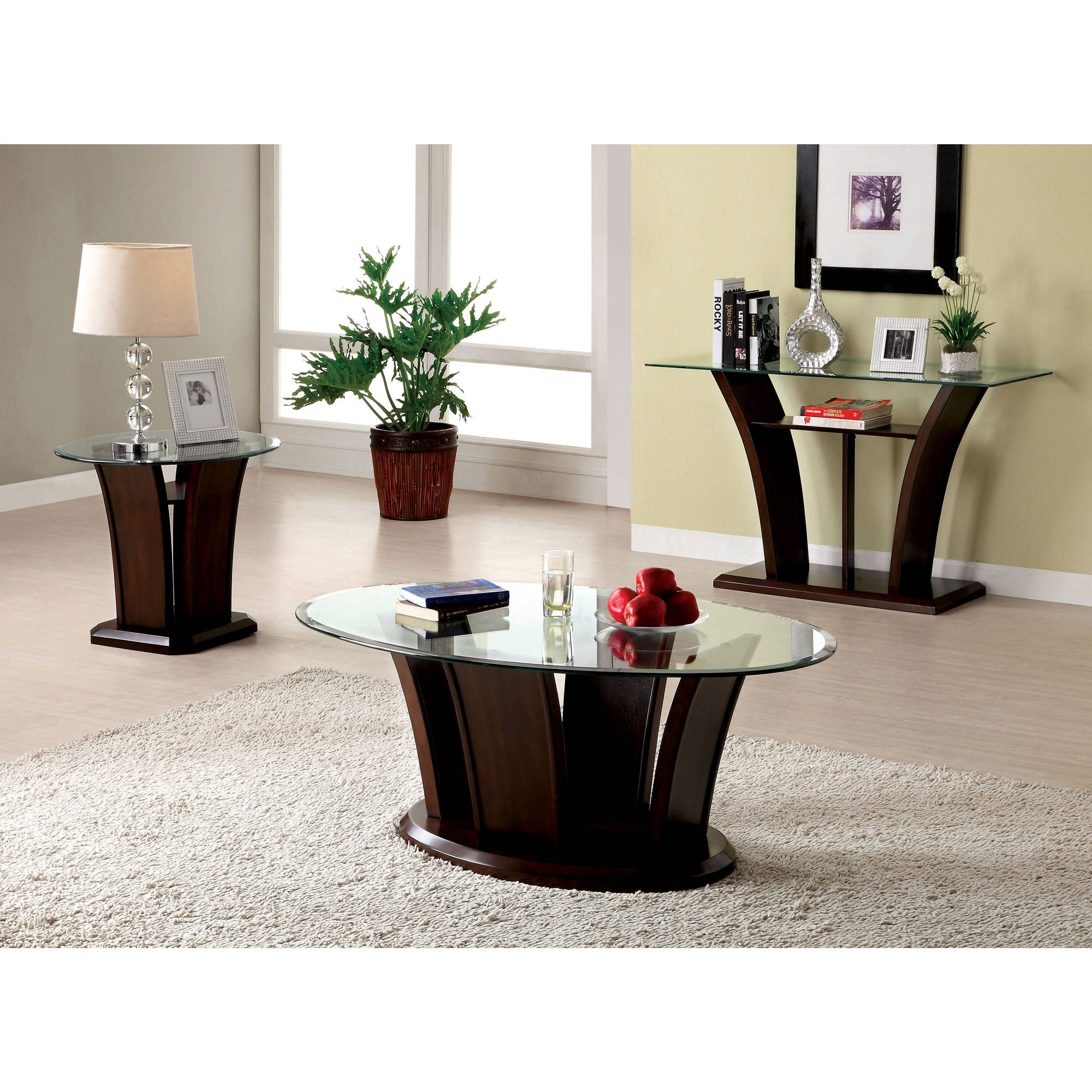 Furniture Of America Panna Contemporary 3 Piece Coffee Table Set, Multiple  Colors