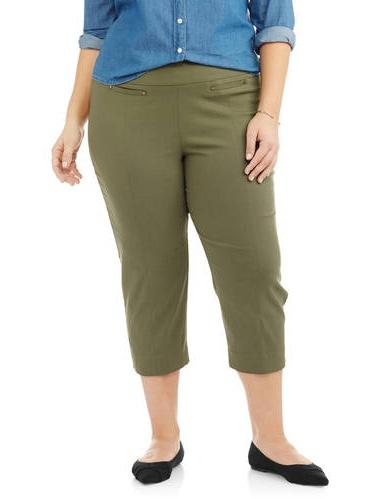 Women's Plus Fashion Capri Pants
