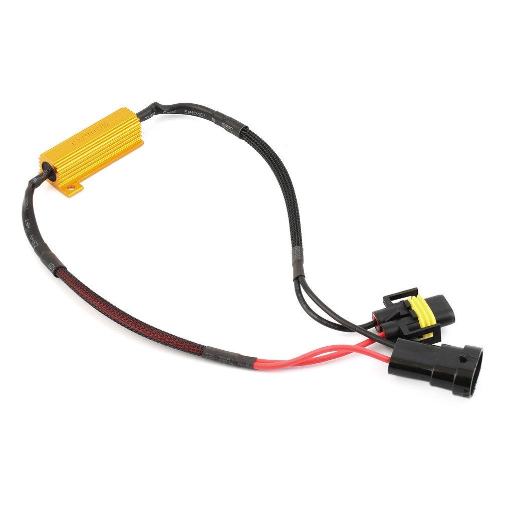 h7 h11 50w 6 ohm led drl fog light load resistor wiring harness dc rh walmart com Wiring Diagram of an LED Bulb LED Flasher Wiring -Diagram
