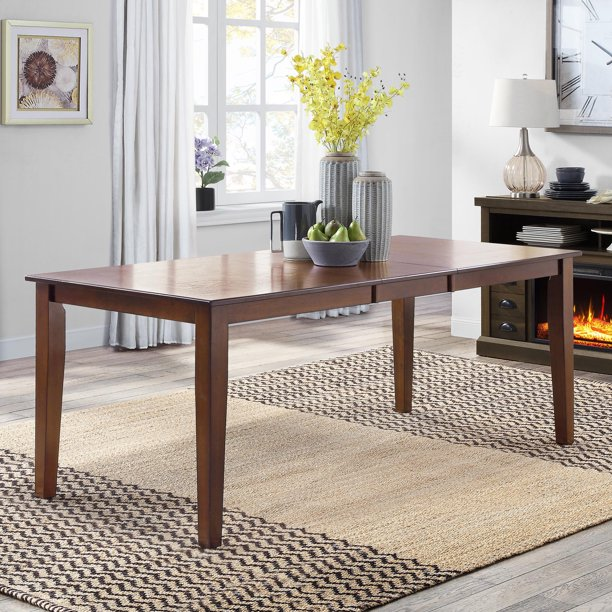 Better Homes & Gardens Bankston Expandable Dining Table with Leaf, Mocha Finish