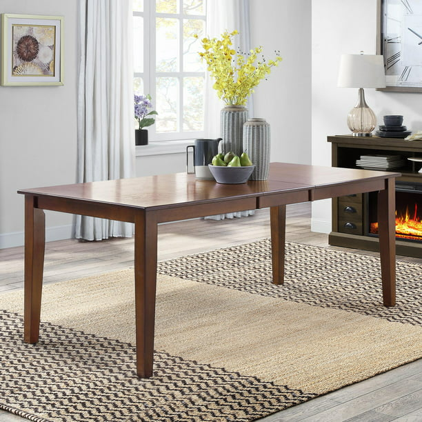 Better Homes & Gardens Bankston Expandable Dining Table with Self-Storing Leaf, Mocha Finish