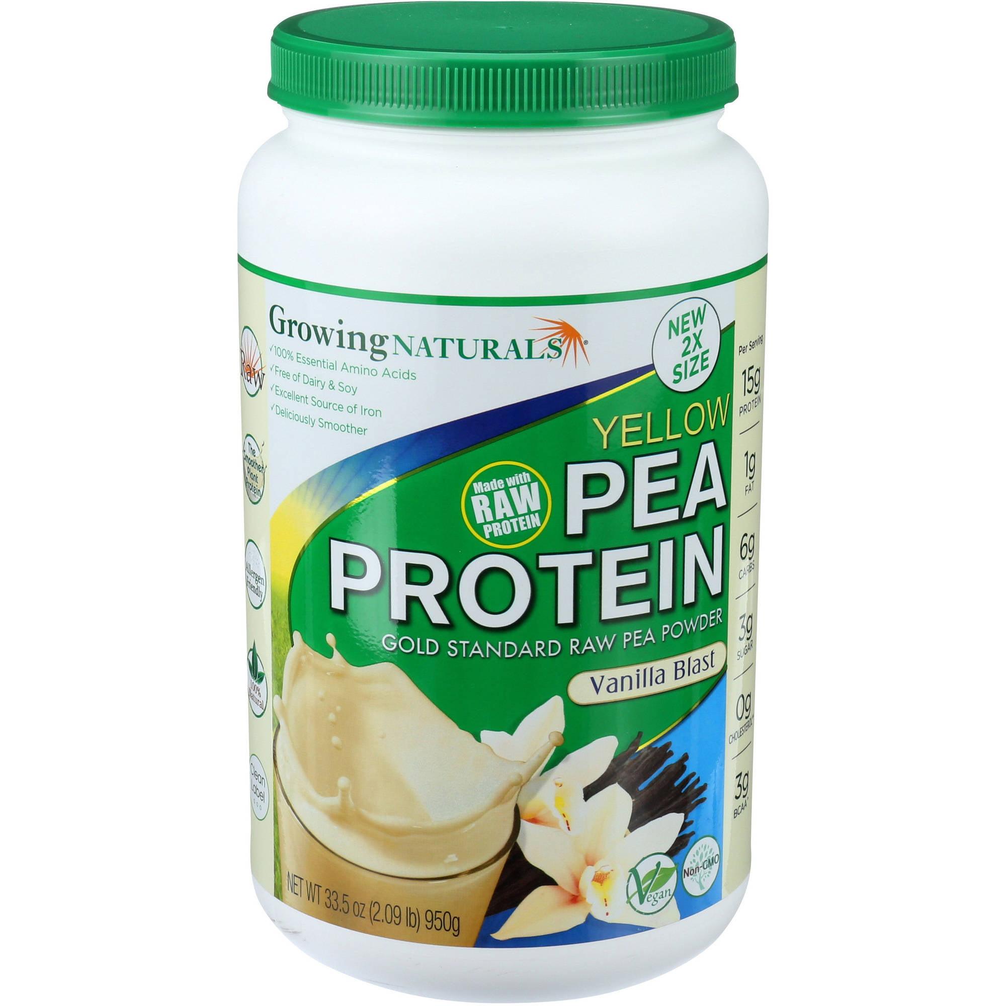 Growing Naturals Protein Pea Powder Vanilla, 33.5 OZ