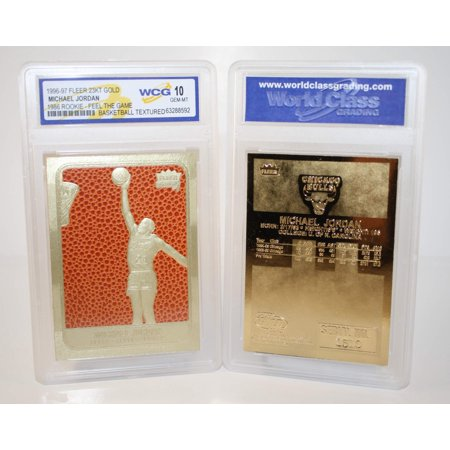 MICHAEL JORDAN 1986 Fleer ROOKIE Feel The Game 23KT Gold Card Graded GEM MINT - 1986 Carded