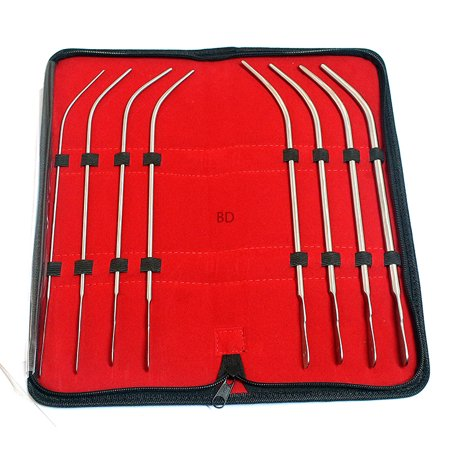 bdeals van buren urethral dilators sounds urethral 8 pcs kit 8fr to 22 curved