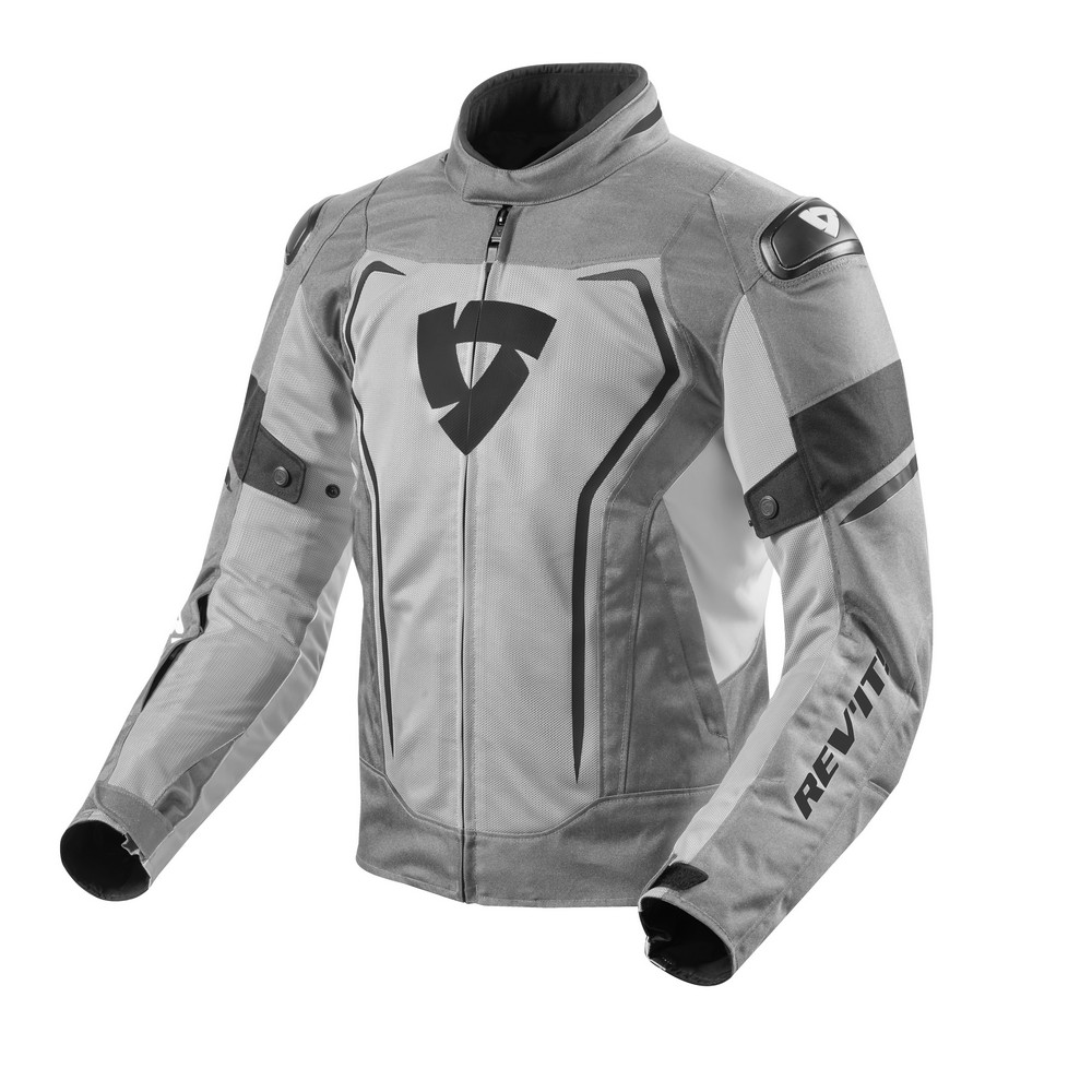 Rev'It Vertex Air Mens Textile Jacket Light Gray Black