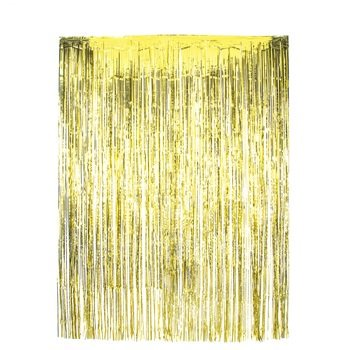 Metallic Gold Tinsel Elegant Foil Fringe Curtains for Party Photo Backdrop All Occasions Wedding Sweet 16