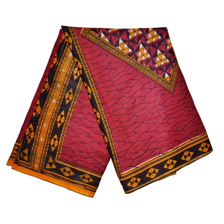 Burgundy Red African Print Fabric
