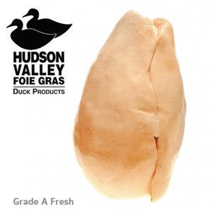 Frozen Duck Foie Gras - American Whole Duck Foie Gras, Grade A - Approx. 1.8 lbs