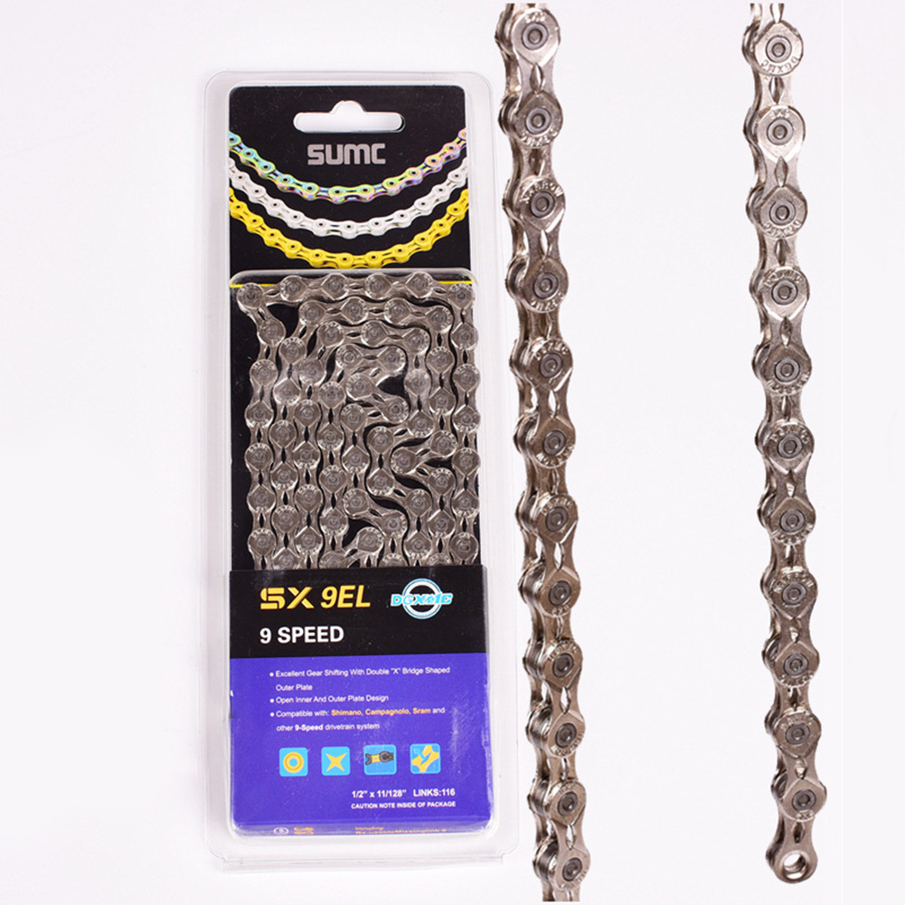 SUMC Durable Bike Chain 9//27  Speed MTB Road Bicycle Chain Mountain Bike Chain