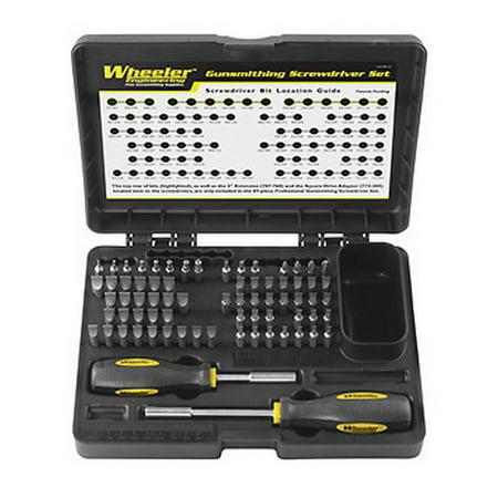 Wheeler Professional 72-Piece Gunsmith Screwdriver Set, 776-737