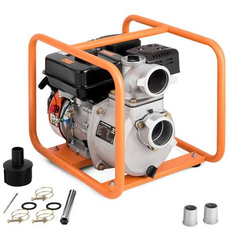 Costway 3 Inch Portable Gasoline Water Transfer Pump 7HP 4-Stroke Flood Irrigation EPA (Water Pump 2inch)