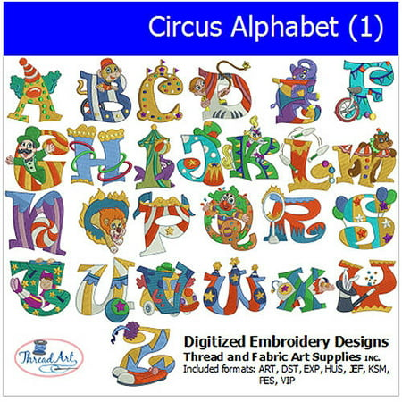 Alphabet Embroidery Design (Threadart Machine Embroidery Designs Circus Alphabet (1) CD)