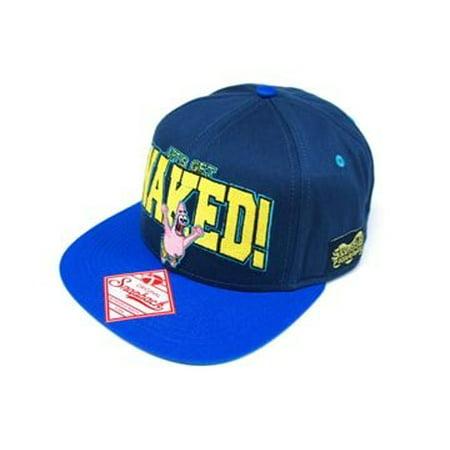 Baseball Cap - SpongeBob SquarePants - New Patrick/Logo Blue Hat - Sponge Bobs Hat