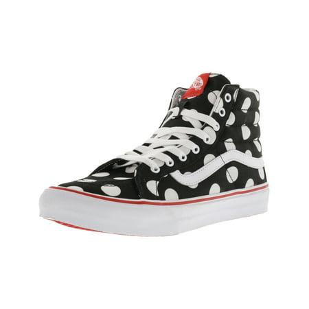 5836c20285 Vans - Vans Sk8-Hi Slim Polka Dot Black   Fiery Red Ankle-High Canvas  Skateboarding Shoe - 10M 8.5M - Walmart.com