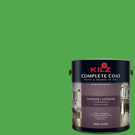 Pettit Vivid Antifouling Bottom Paint (KILZ COMPLETE COAT Interior/Exterior Paint & Primer in One #RH100 Vivid Lime )
